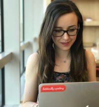 Maeve Hannan with Laptop