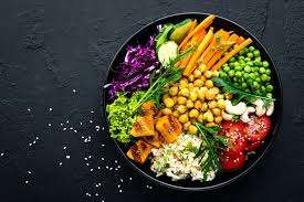 Healthy high fibre plant-based food